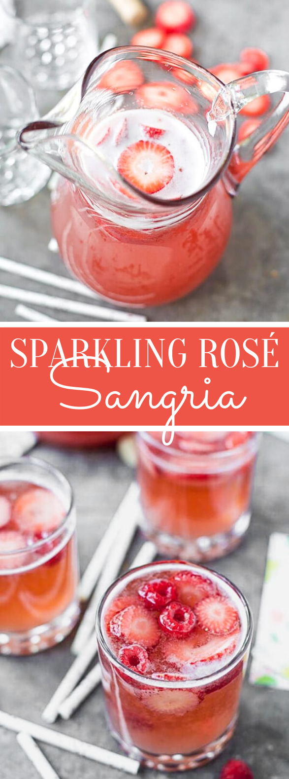 SPARKLING ROSÉ SANGRIA #drinks #cocktails