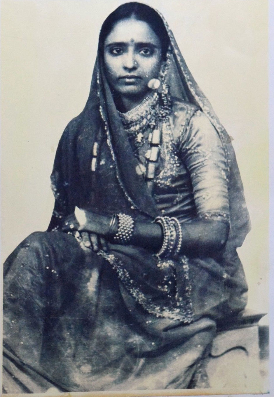 Indian Lady in Sari and Ornaments