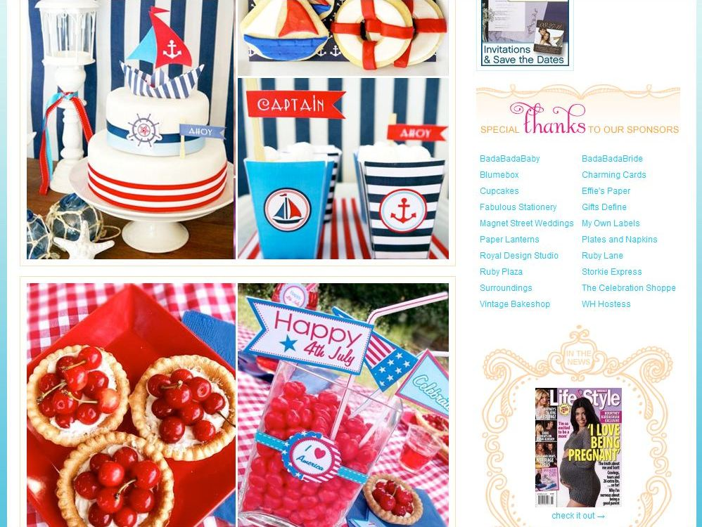 Red White And Blue Party Themes 110