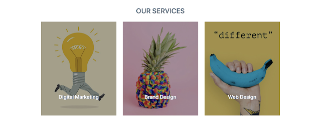 Services Section on Creative Agency Template