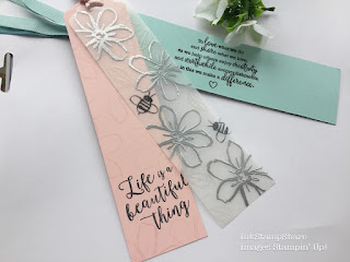 Book mark with Garden In Bloom from Stampin' Up!