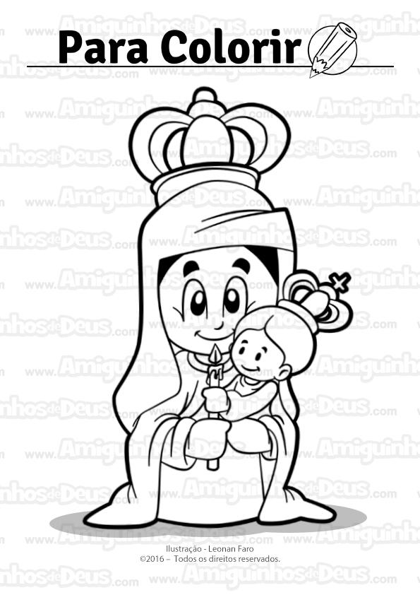 nossa senhora da candelária desenho para colorir
