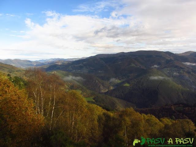 Vista hacia el Valle del Río Navia