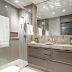 Banheiro com banheira contemporâneo + decor neutro e mármore travertino!