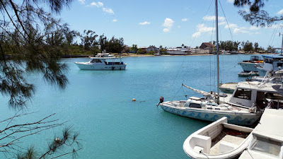Boats in the water at Arawak Cay