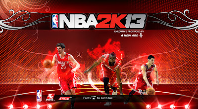 NBA 2K13 Houston Rockets Big 3 Cover Screen