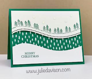 Stampin' Up! Curvy Christmas Card + VIDEO Tutorial ~ www.juliedavion.com #stampinup