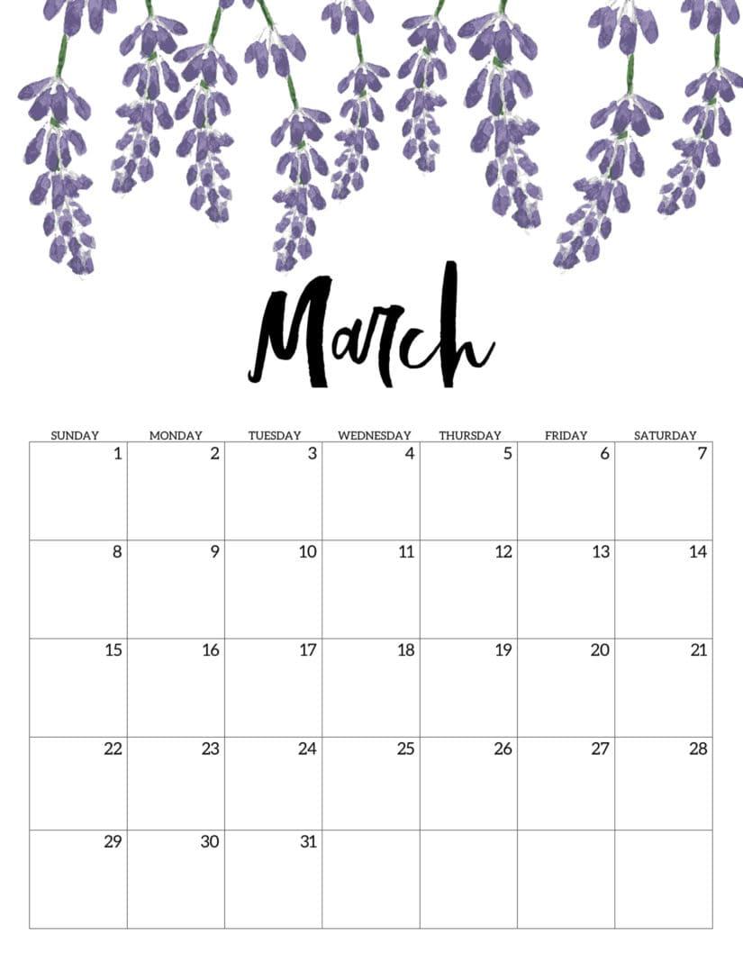 Calendario Floral de marzo 2020
