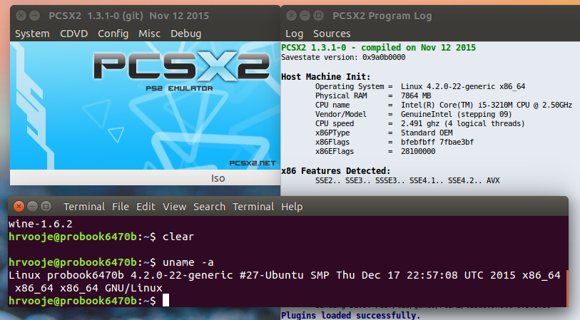 ZadnjiVezni: How to install and run pcsx2 in Ubuntu 15 10 x64