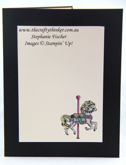 www.thecraftythinker.com.au, Carousel Birthday, Sunburst, #thecraftythinker, Stampin Up Australia Demonstrator, Stephanie Fischer, Sydney NSW