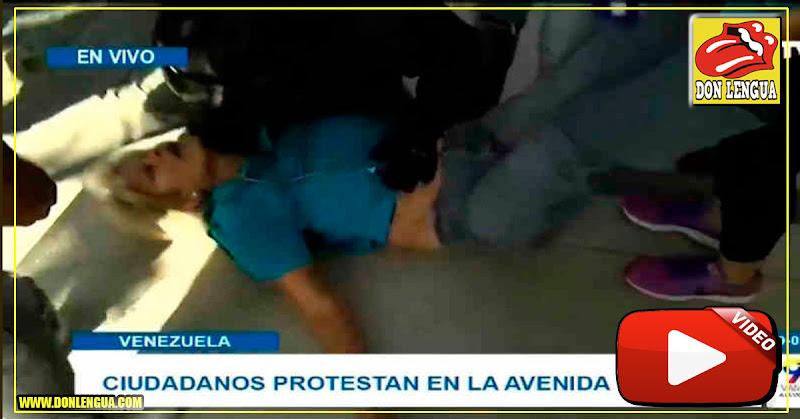 PNB ataca a ancianos con Gas Pimienta en la Avenida Victoria de Caracas