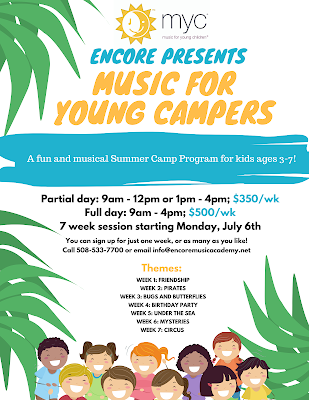 Registration for Encore Music Academy = Music for Young Campers = Open Now