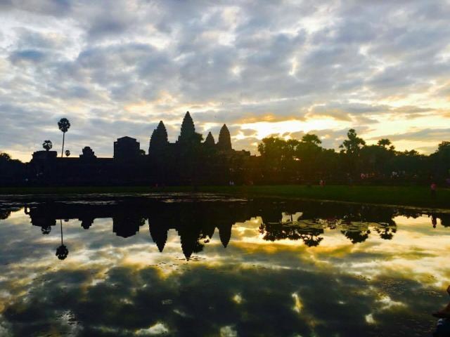 the amazing angkor wat sunrise in Siem Reap Cambodia