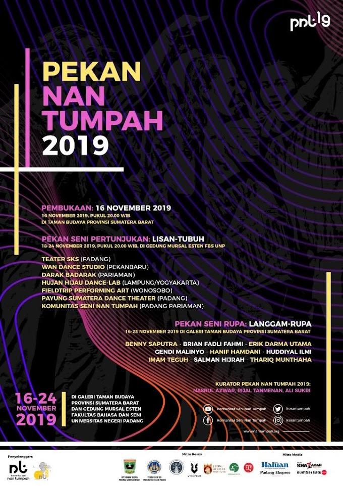 Malam Ini, Pekan Nan Tumpah 2019 Dibuka di Taman Budaya Sumatera Barat