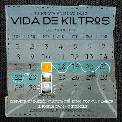 GANATE 1 POSTER + 3 STICKERS Y EL NUEVO LP VIDA DE KILTROS