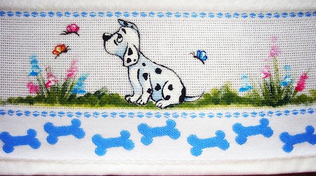 pintura em tecido infantil cachorrinho