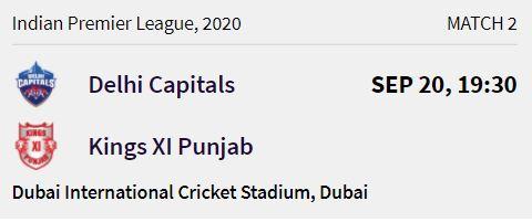 delhi capitals match 1 ipl 2020