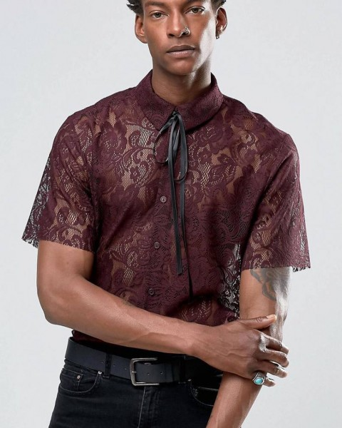 Dantel Erkek Gömleği