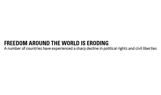 Freedom Around The World Is Eroding