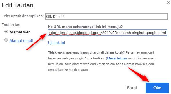 Cara Menyisipkan Link Tautan Di Gmail Seputar Internet Koe