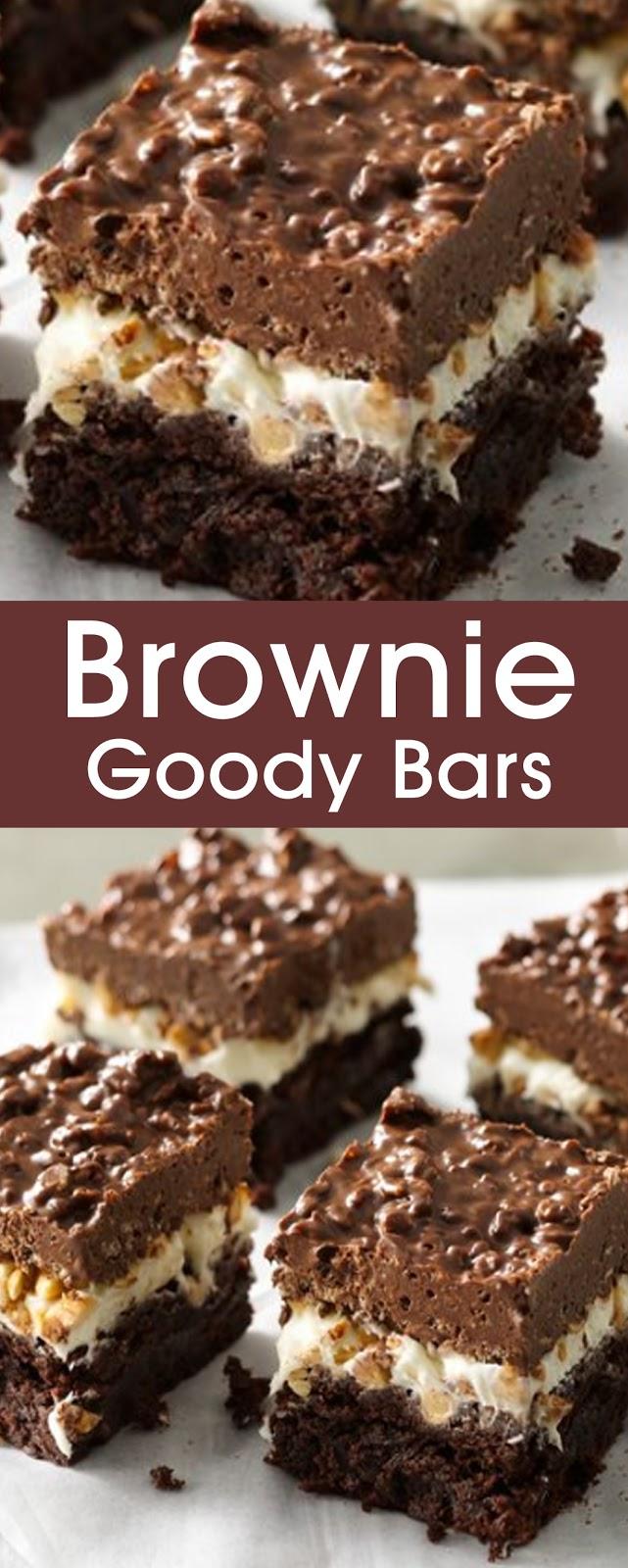 Brownie Goody Bars #bars #cookies