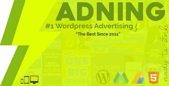 Adning Advertising NULLED–advertising manager for WordPress