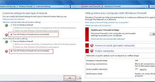 Turn off Windows Firewall