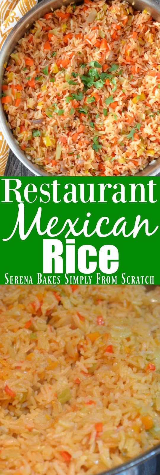 Easy to make Restaurant Style Mexican Rice.