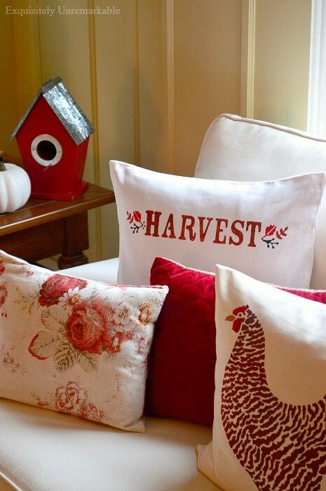 Harvest Pillow Stencil