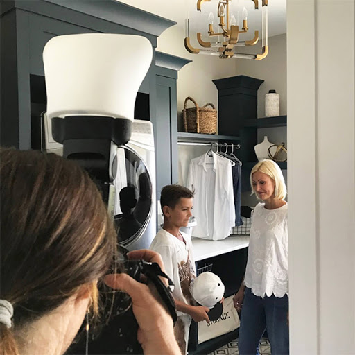 behind the scenes at classic cleaners company photoshoot