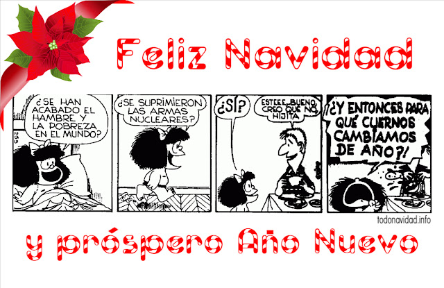 Humor Navidad Mafalda, tiras cómicas