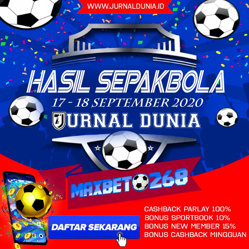 Hasil Pertandingan Sepakbola Tanggal 17 - 18 September 2020