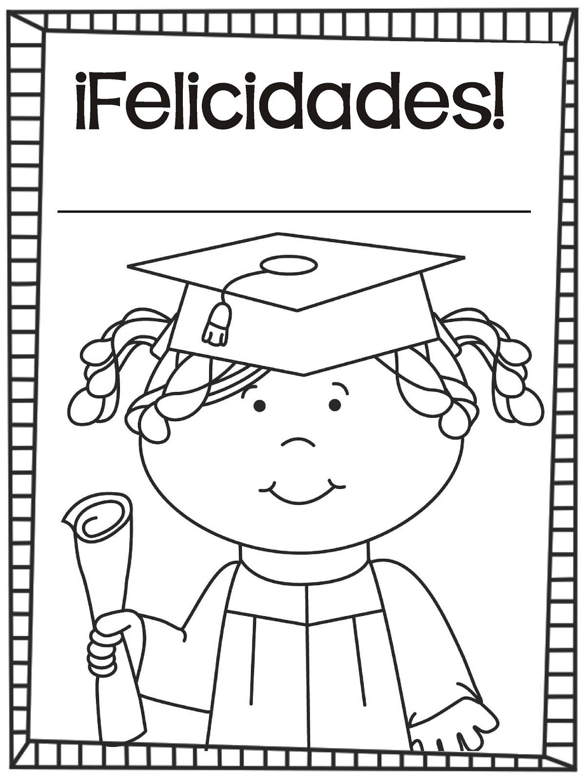 Graduación Hojas para colorear - De los tales