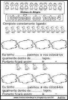 Divisões ilustradas do fato 4