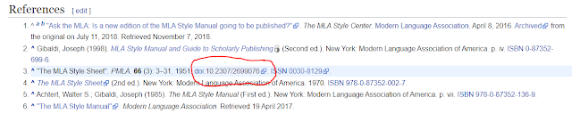Example of a Wikipedia References section