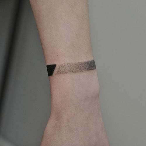 geometrik bilek dövmeleri geometric wristband tattoos