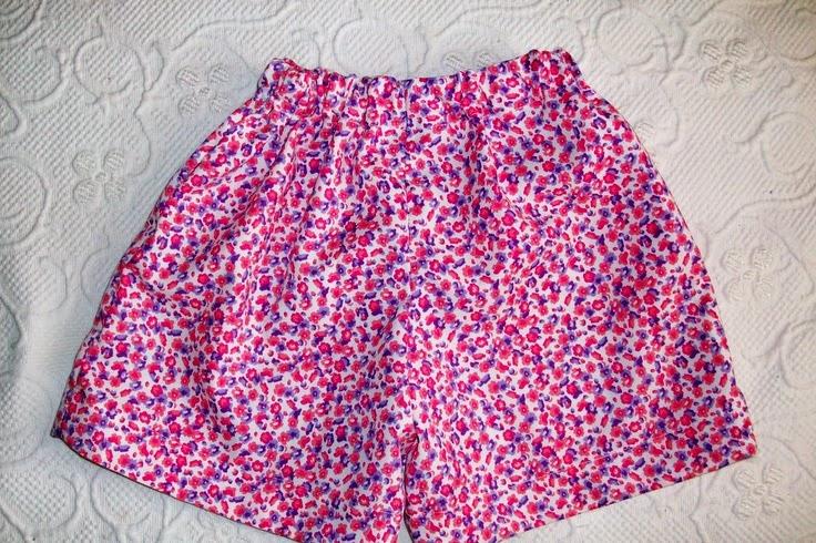moda de short para niñas con elástico en cintura