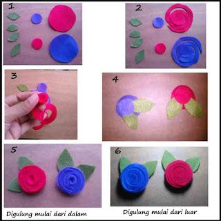 Cara mudah membuat mawar flanel