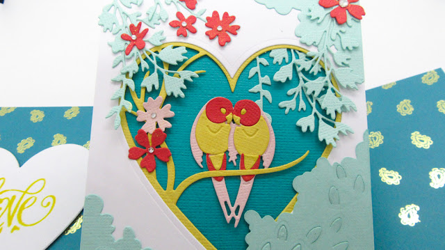 Sizzix Love birds pop up card