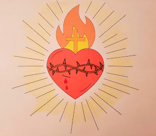 Color the sacred heart