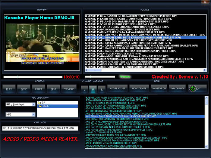 Software Karaoke KaraokePlayer