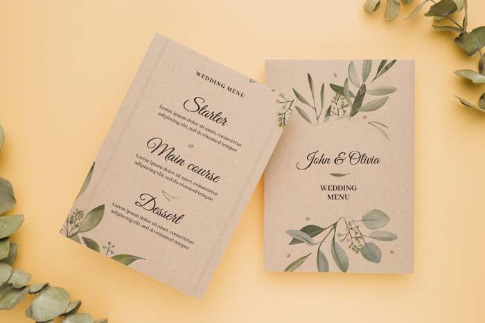 Wedding Flat Lay With Envelope Card Mockup