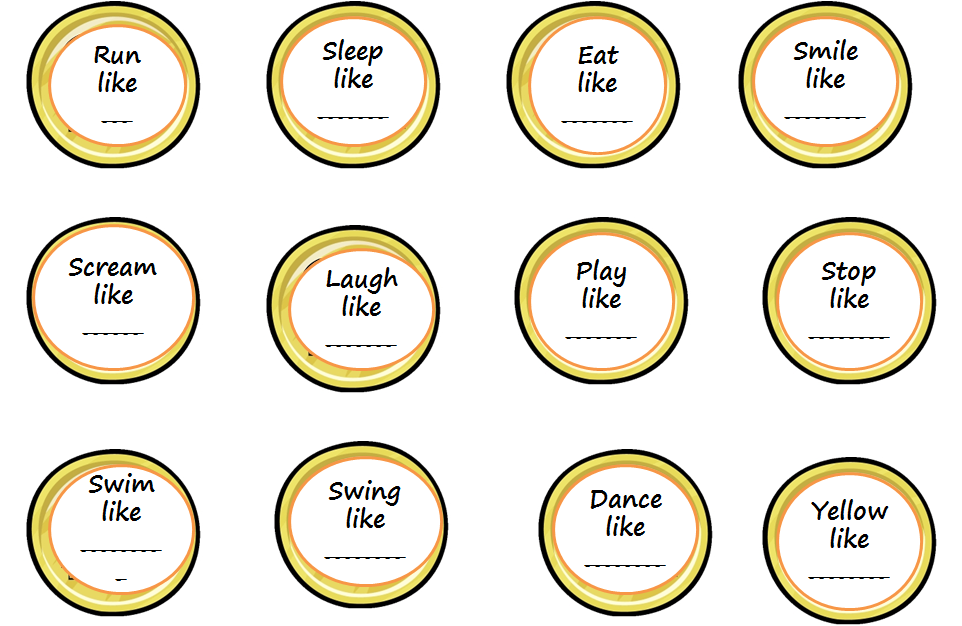 Just Speechie Slp Savings Makes Similes And Metaphors A Figurative Language Game Freebie