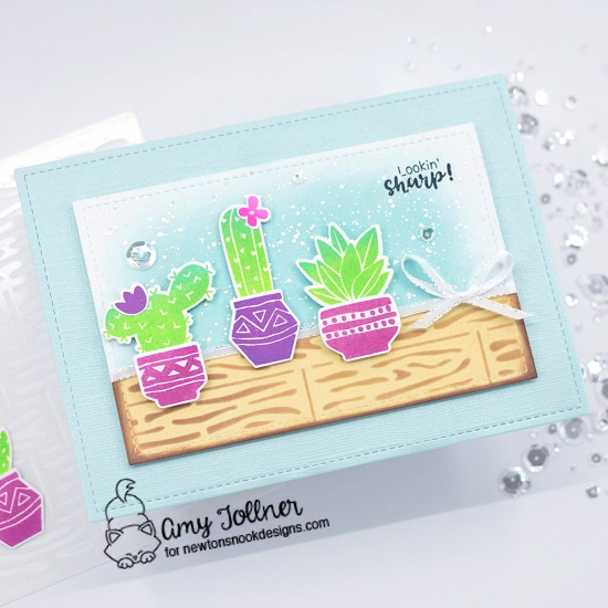 Cultivated Cacti Stamp and Die Set, Hardwood Stencil by Newton's Nook Designs #newtonsnook #handmade