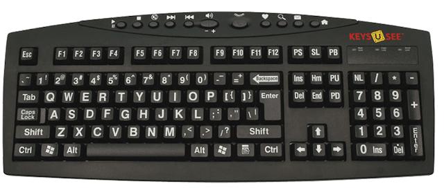 Large Print English Keyboard Keys U See