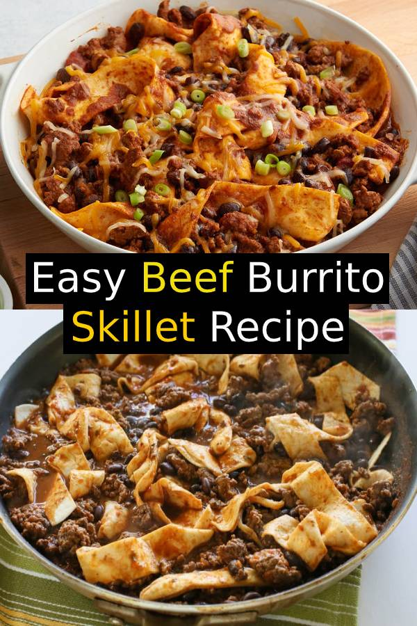 Easy Beef Burrito Skillet | Easy Whole30 Dinner Recipes #burrito #beef #dinner #easydinner #skillet #maindish