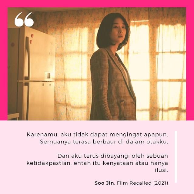 Seo Yea Ji dalam review dan sinopsis Film Recalled 2021