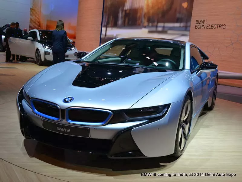 bmw i8 coming to india at 2014 delhi auto expo hitechnex. Black Bedroom Furniture Sets. Home Design Ideas