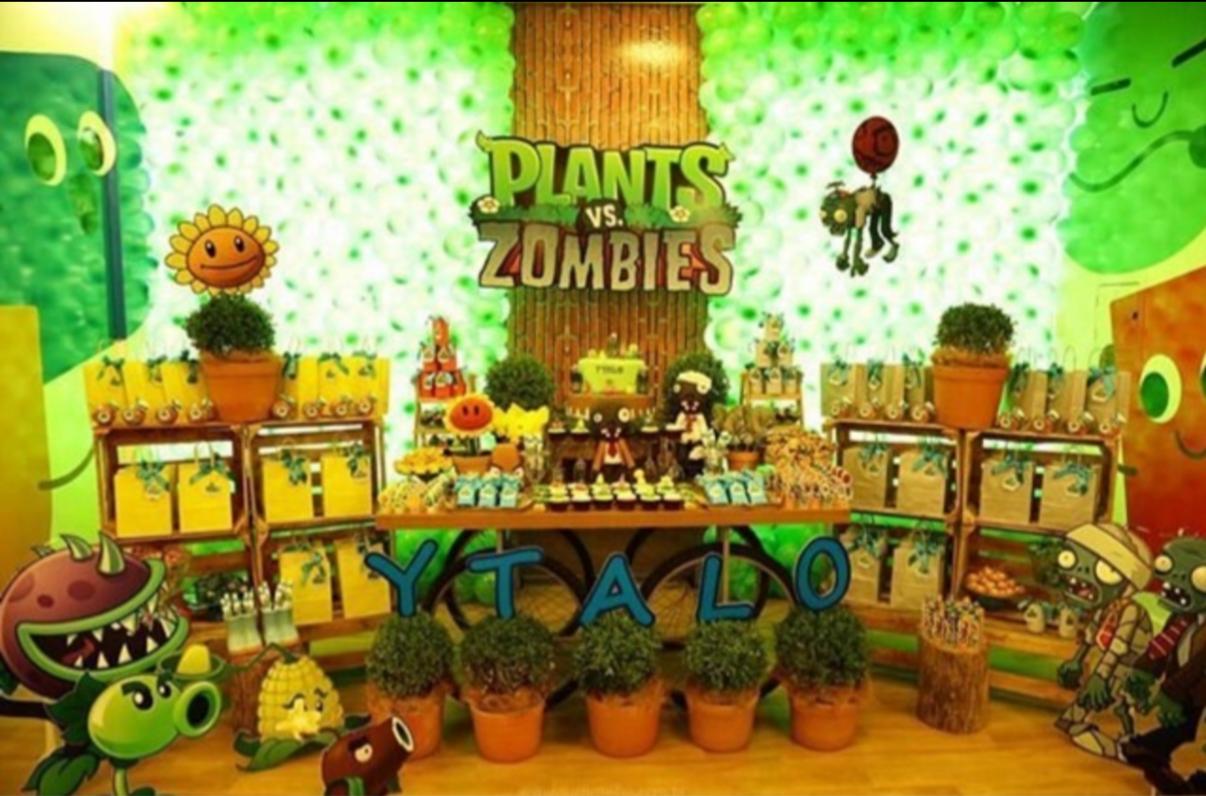 Fiesta tem tica de plantsvszombies for Cuartos decorados de plants vs zombies