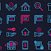 Free Real Estate Icons PSD + AI